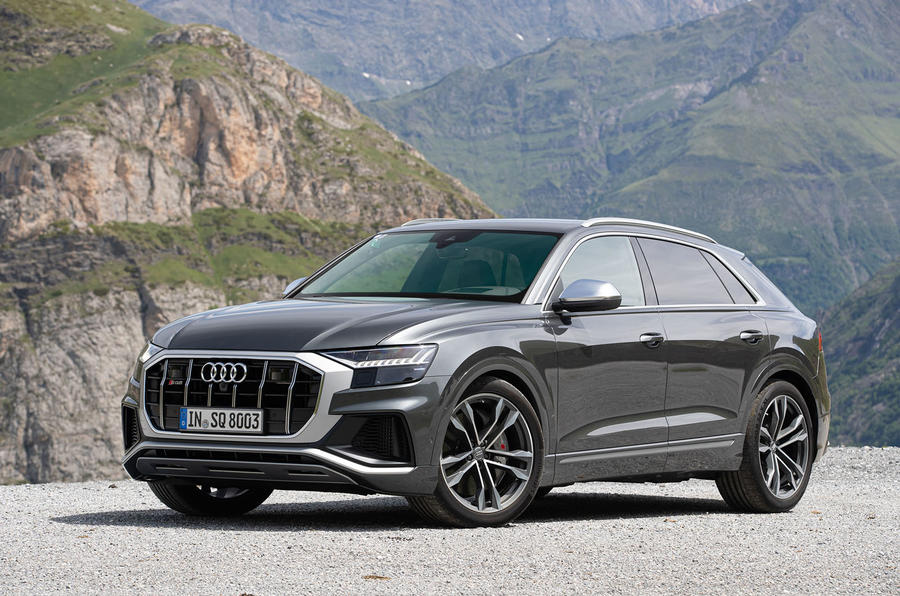 Audi SQ8 2019 road test review - static front