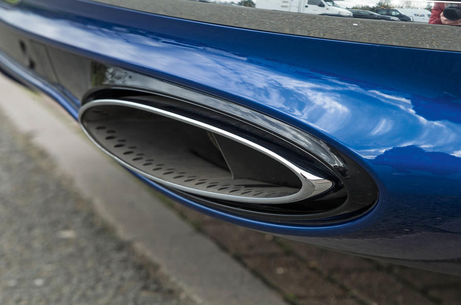 Bentley Continental GT 2018 Autocar road test review exhaust