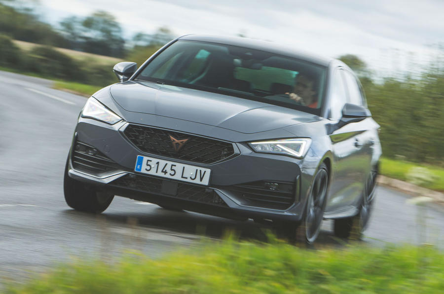 Cupra Leon 2020 road test review - cornering front