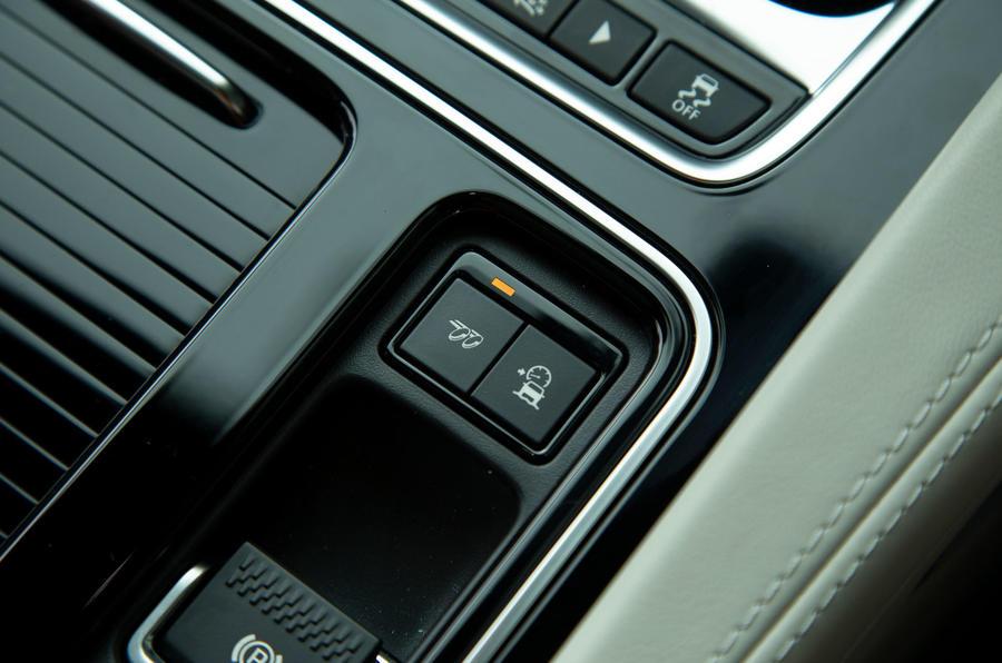 Jaguar F-Pace SVR 2019 road test review - exhaust button