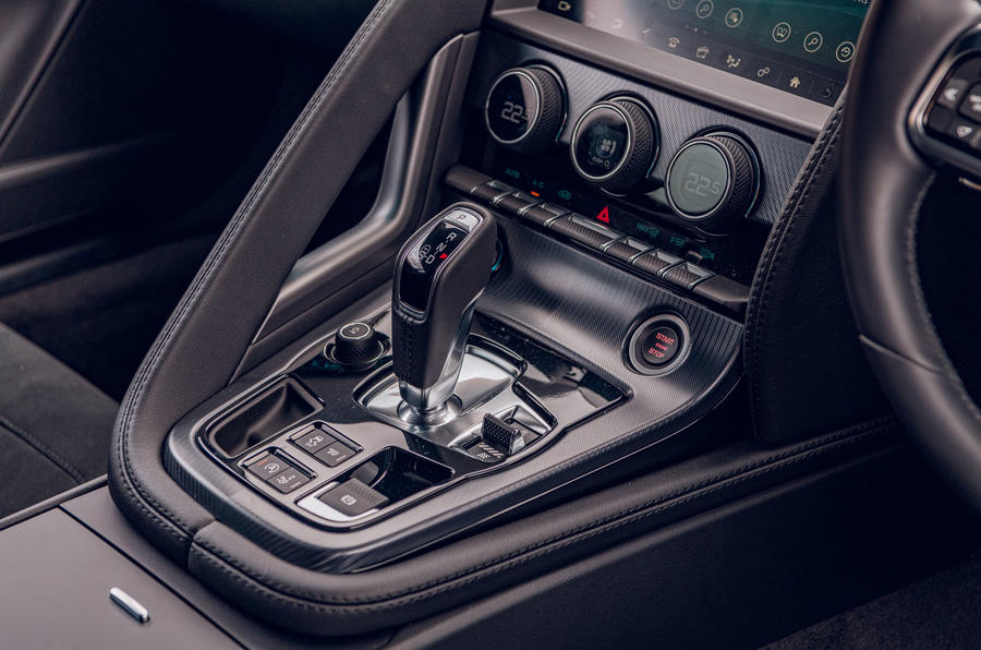 Jaguar F-Type 2020 road test review - centre console