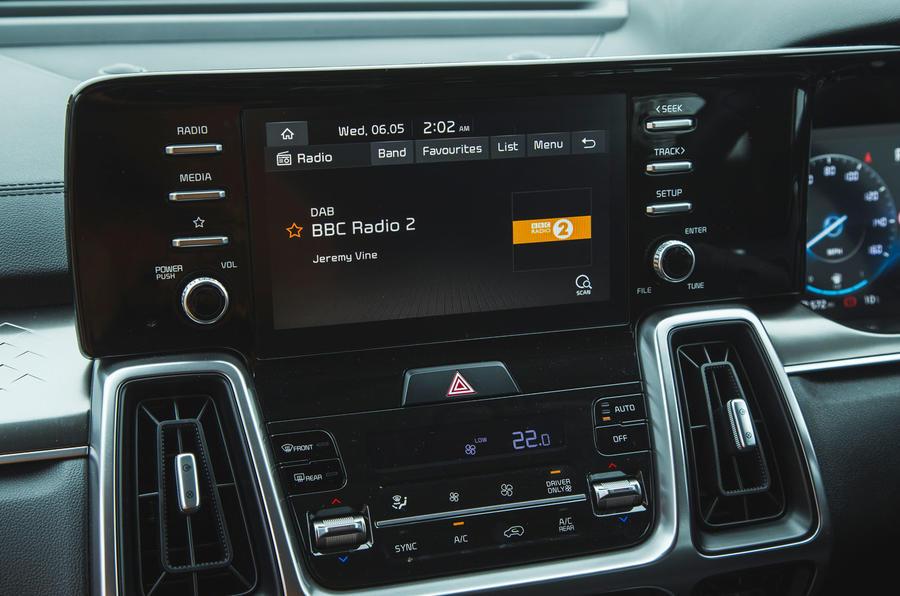 18 Kia Sorento 2021 : essai routier - infotainment
