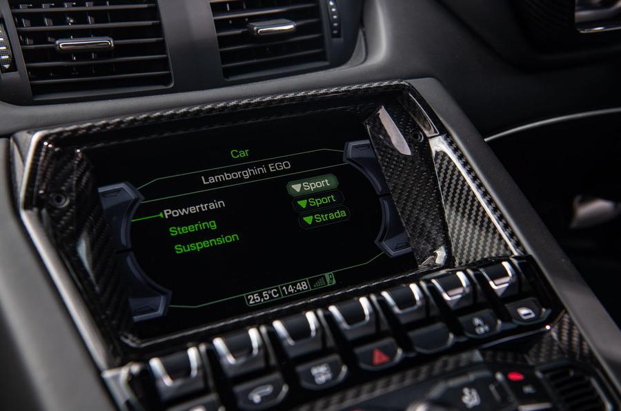 Lamborghini Aventador SVJ 2019 road test review - infotainment