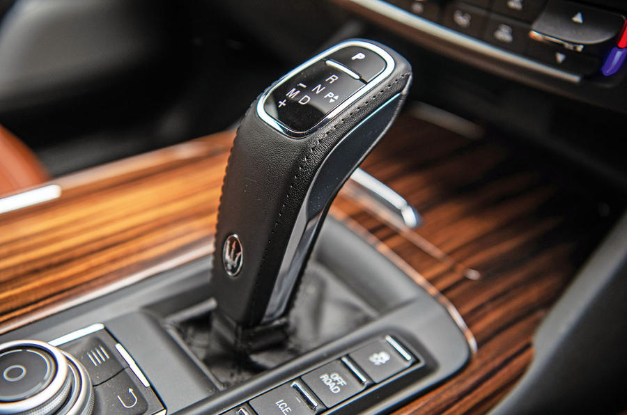 Maserati Levante S GranLusso 2019 road test review - gearstick