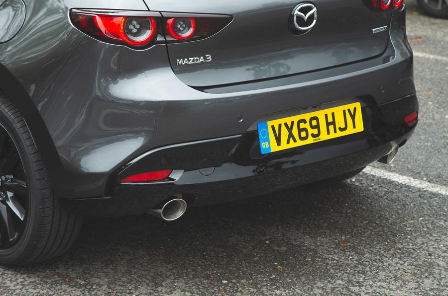 Mazda 3 Skyactiv-X 2019 road test review - rear bumper