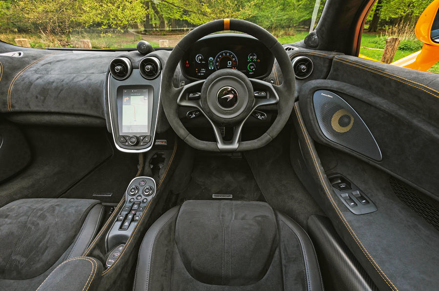 McLaren 600LT Spider 2019 road test review - dashboard