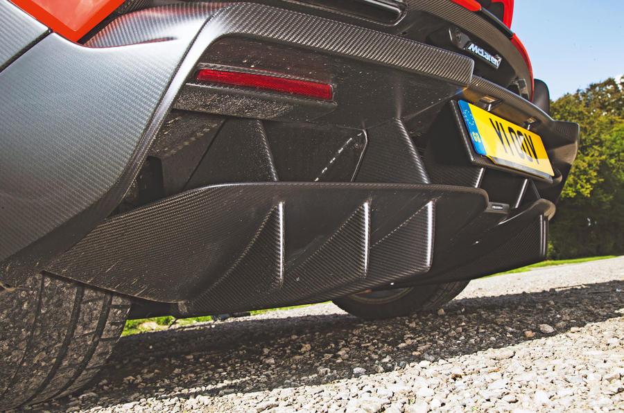 McLaren Senna 2018 road test review - rear diffuser