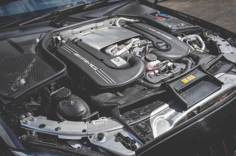 Mercedes-AMG C63 Coupé 2019 road test review - engine