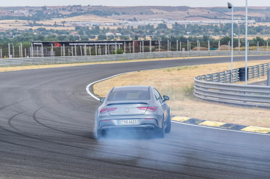 Mercedes-AMG CLA 45 S 2019 road test review - drift rear