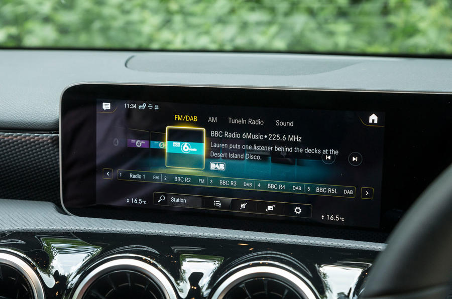 Mercedes-Benz A-Class 2018 road test review infotainment