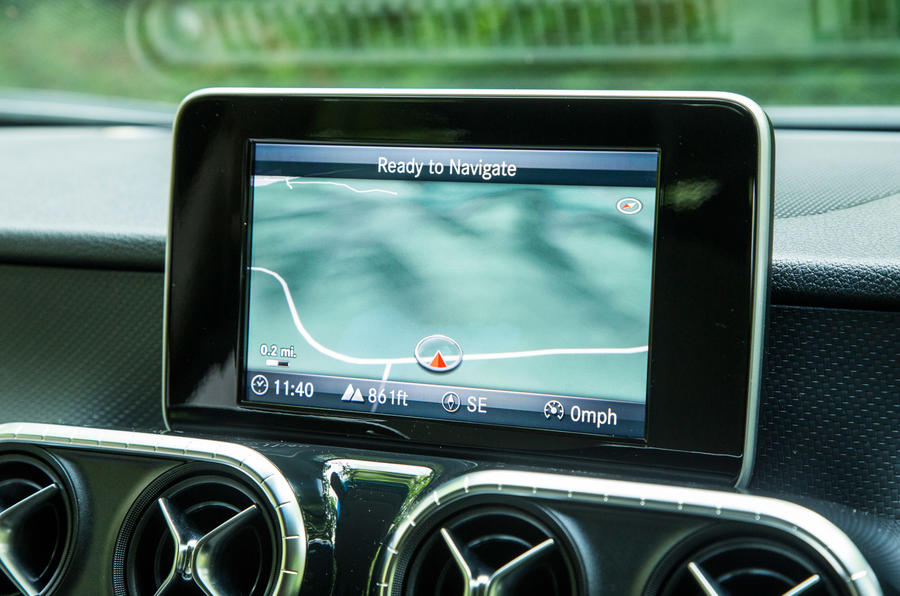 Mercedes-Benz X-Class road test review infotainment satnav