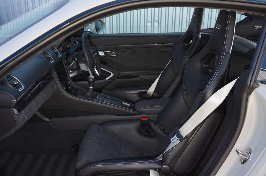 Porsche 718 Cayman GTS 2018 review passenger seat