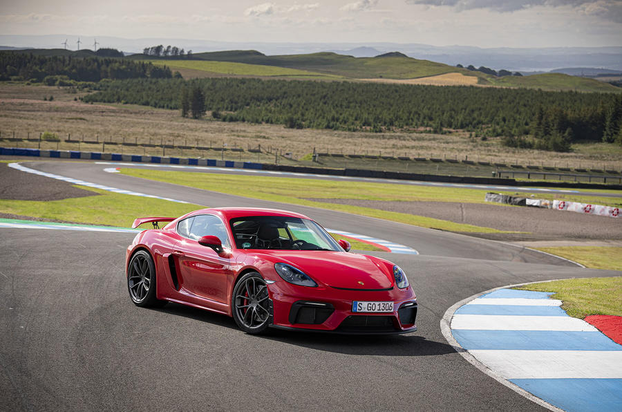 Porsche 718 Cayman GT4 2019 road test review - static front