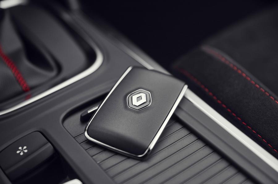 Renault Megane RS 280 2018 road test review key card