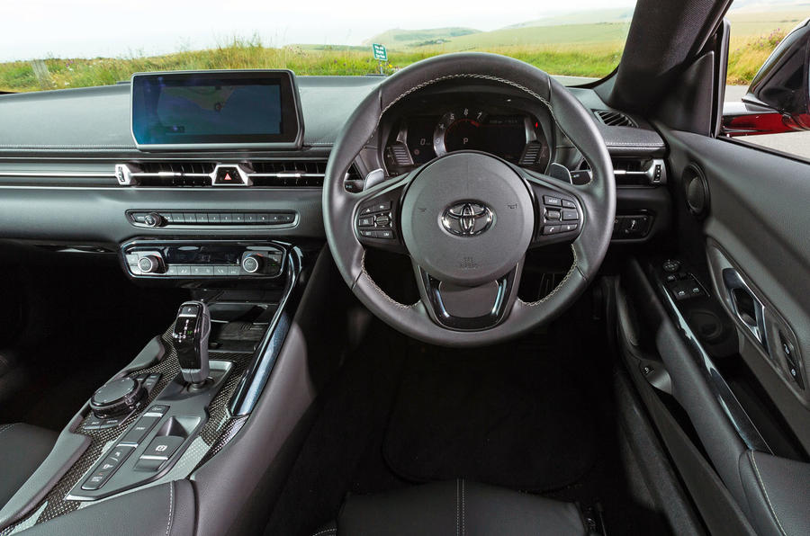 Toyota GR Supra 2019 road test review - dashboard