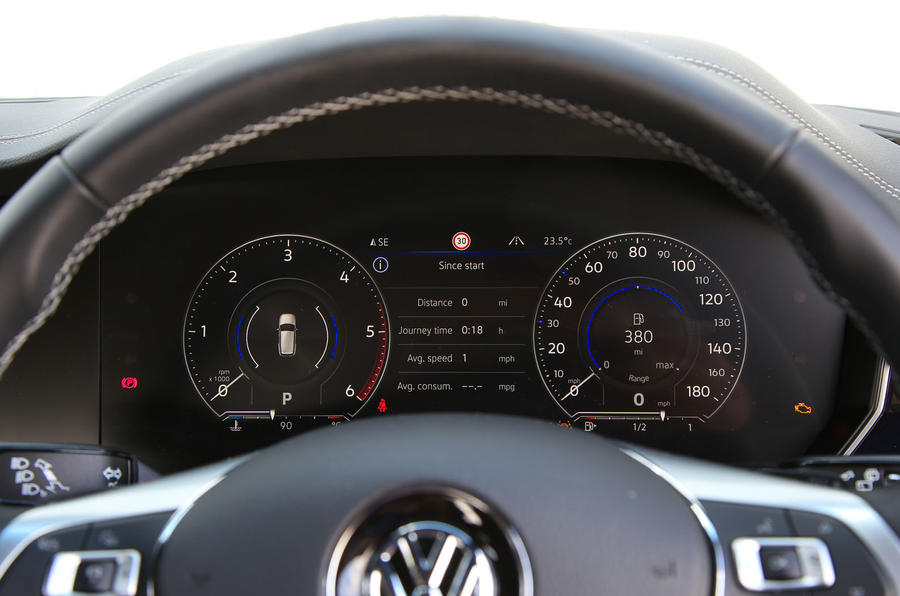 Volkswagen Touareg 2018 road test review digital instrument cluster