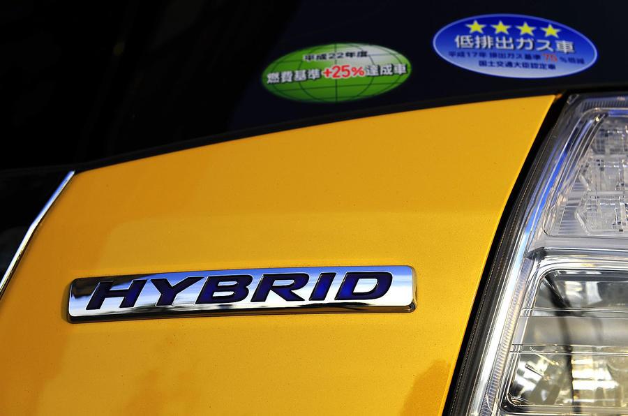Honda Jazz hybrid badging