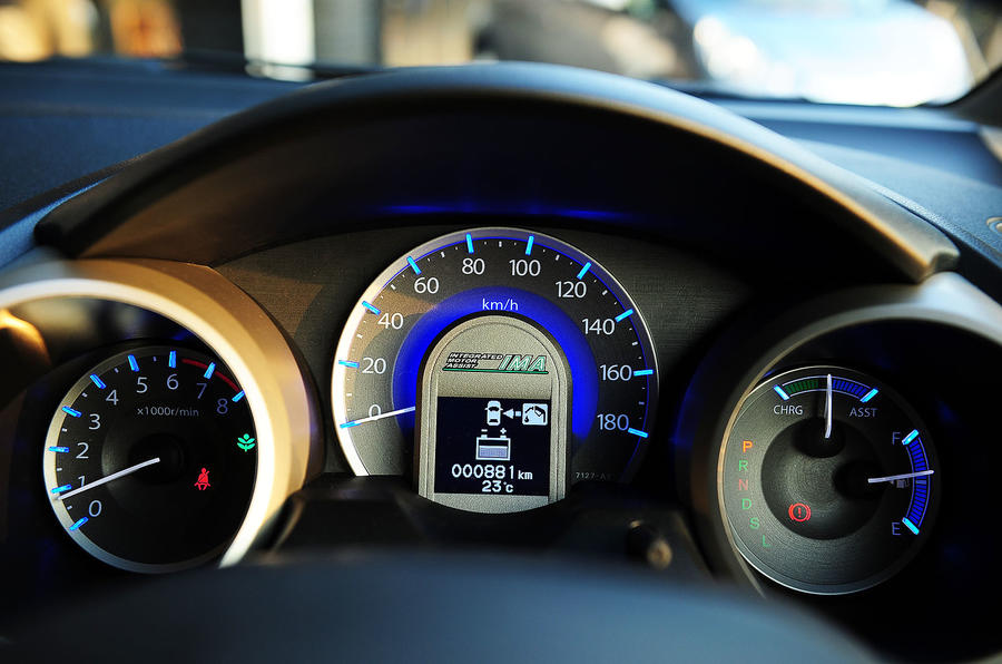 Honda Jazz hybrid cluster