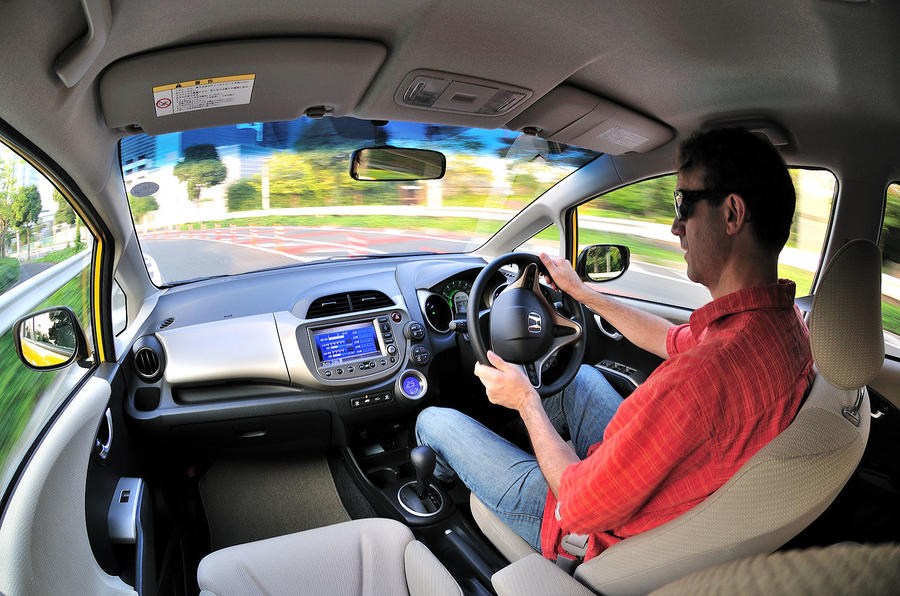 Driving the Honda Jazz hybrid
