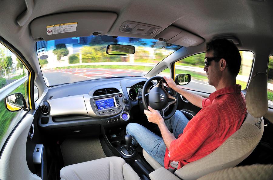Driving the Honda Jazz hybrid
