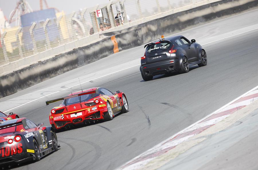 Nissan Juke R on track