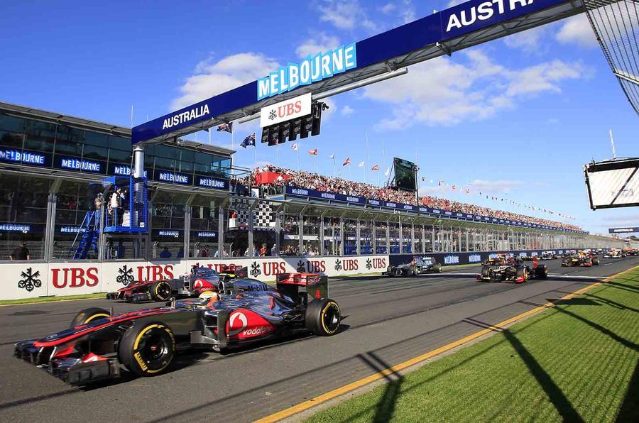 Button storms to Australian GP win