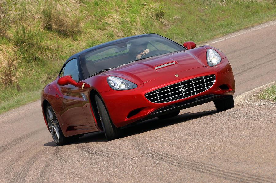 Ferrari California drifting
