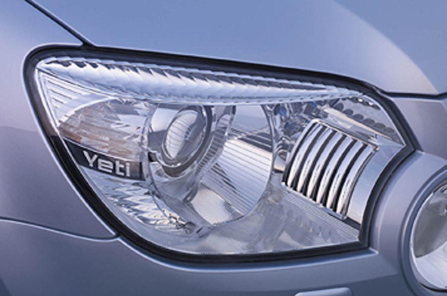 Skoda Yeti headlights