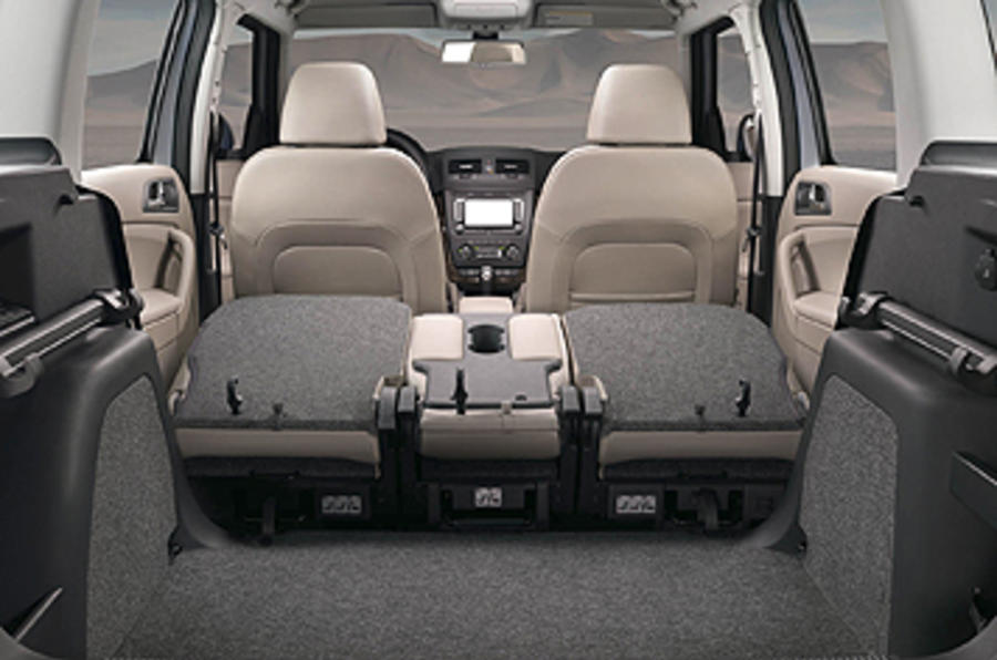 Skoda Yeti seats folded down