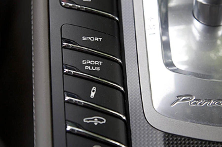 Porsche Panamera Turbo dynamic controls