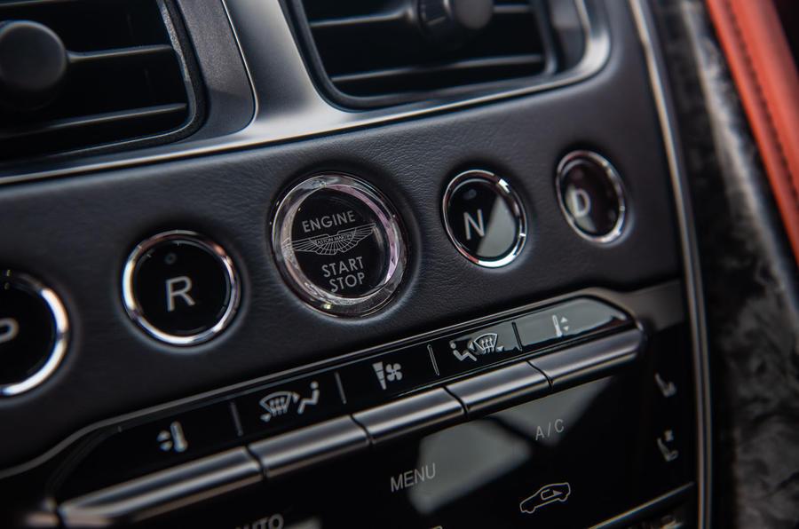 Aston Martin DBS Superleggera 2018 road test review - start button
