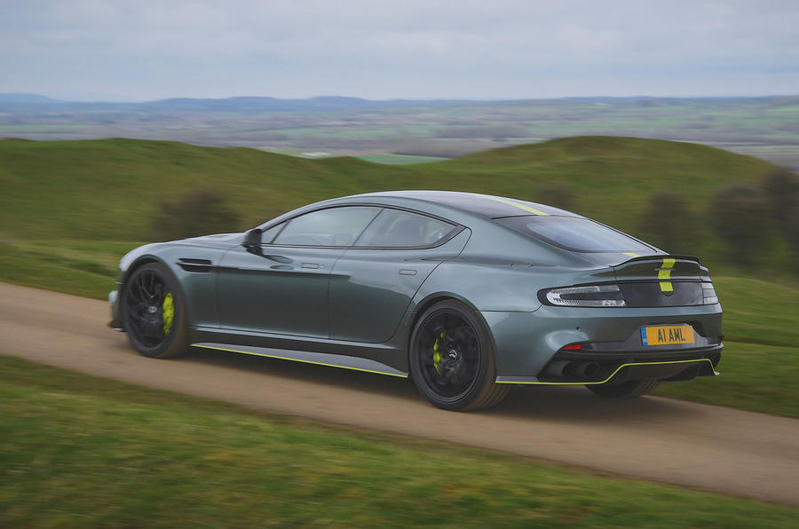 Aston Martin Rapide AMR 2019 first drive review - on the road side
