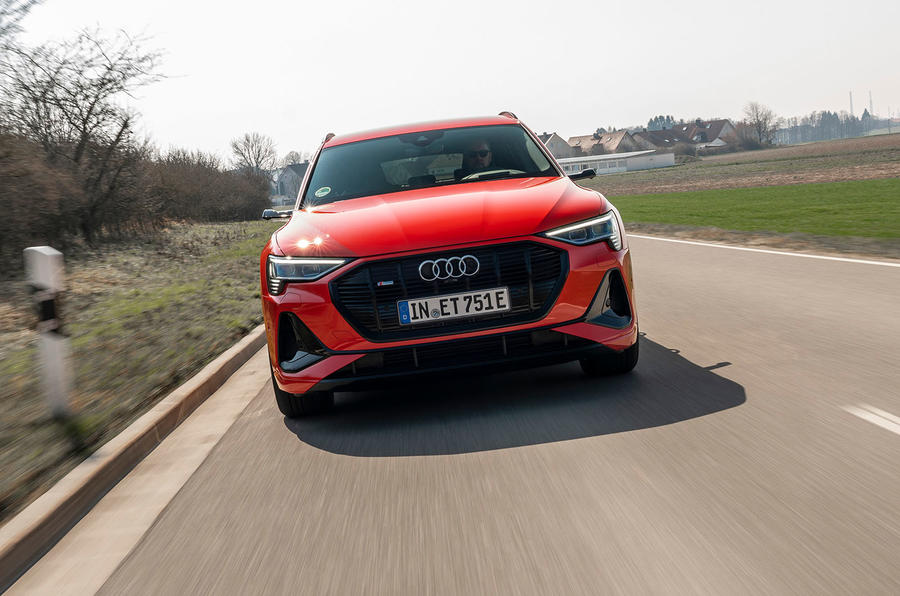 Audi E-tron Sportback 2020 road test review - on the road nose