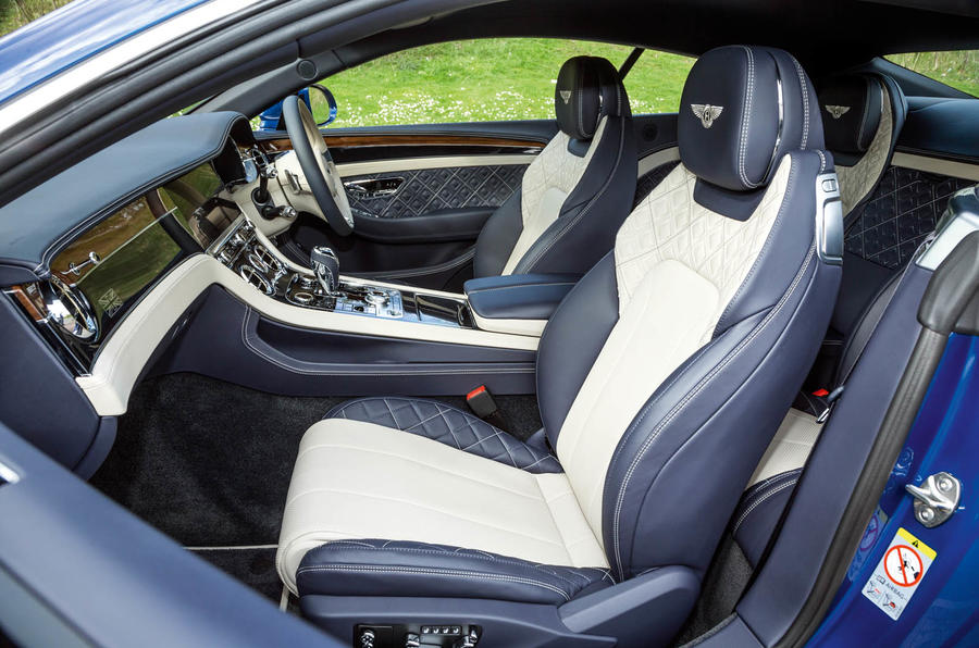 Bentley Continental GT 2018 Autocar road test review front seats