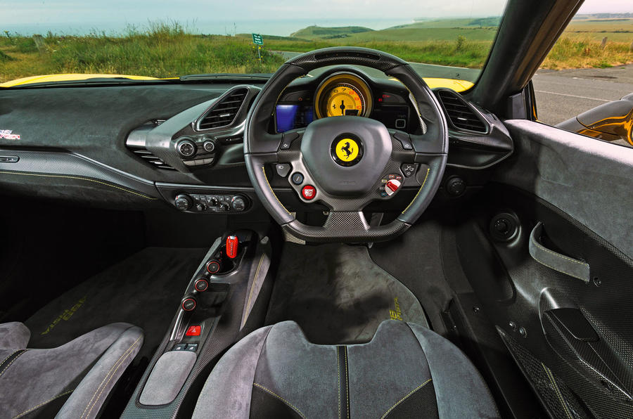 Ferrari 488 Pista 2019 road test review - dashboard