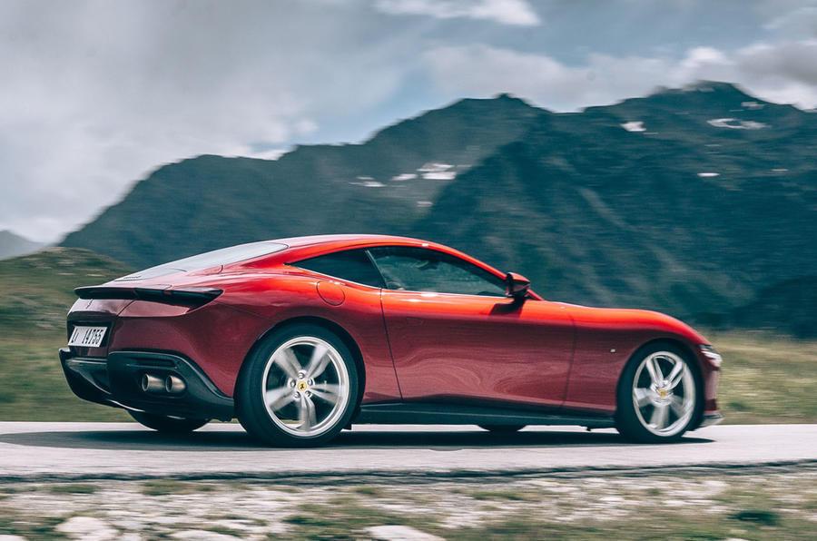 Ferrari Roma 2020 road test review - on the road side