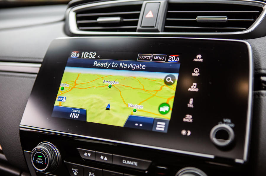 Honda CR-V 2018 road test review - satnav