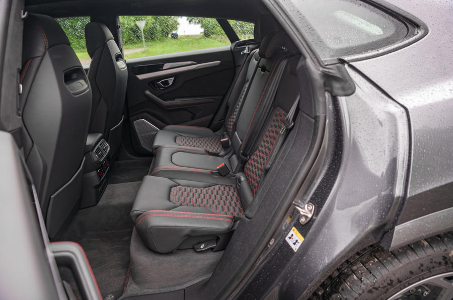 Lamborghini Urus 2019 road test review - rear seats