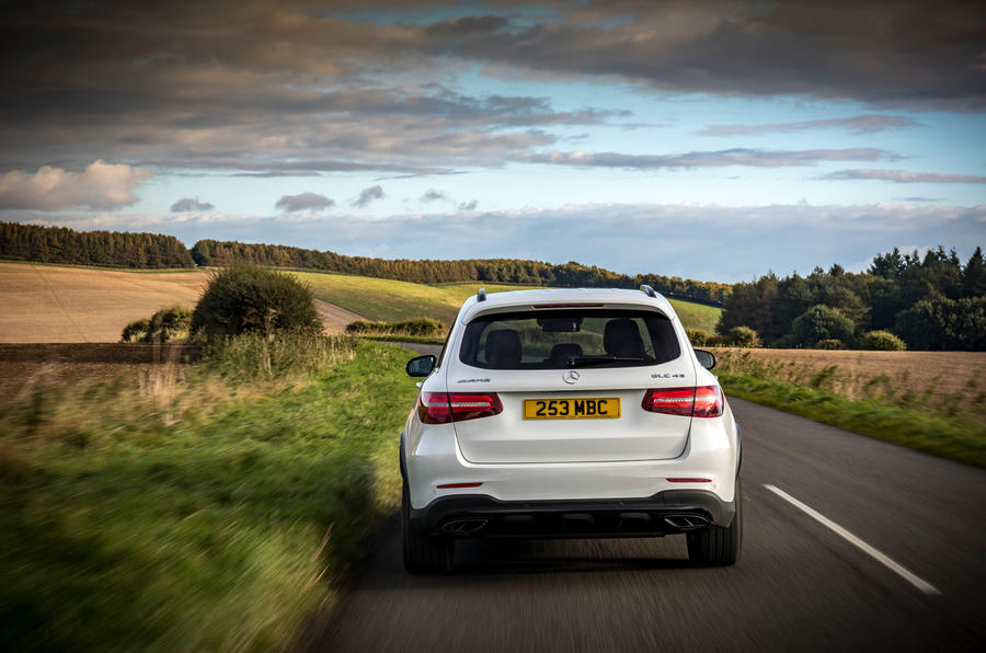 Mercedes-AMG GLC 43 road test review - on the road rear