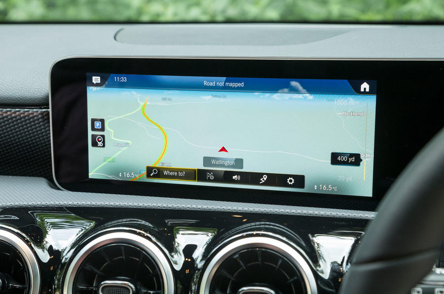 Mercedes-Benz A-Class 2018 road test review infotainment satnav