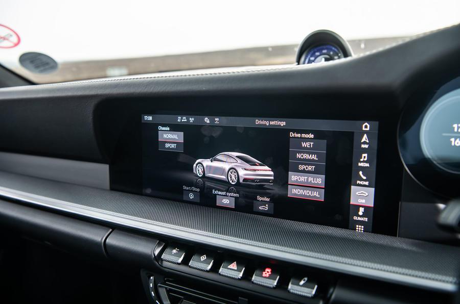 Porsche 911 Carrera S 2019 road test review - drive modes