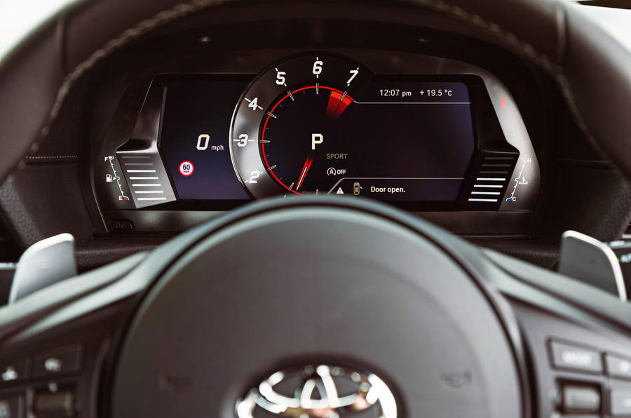 Toyota GR Supra 2019 road test review - instruments