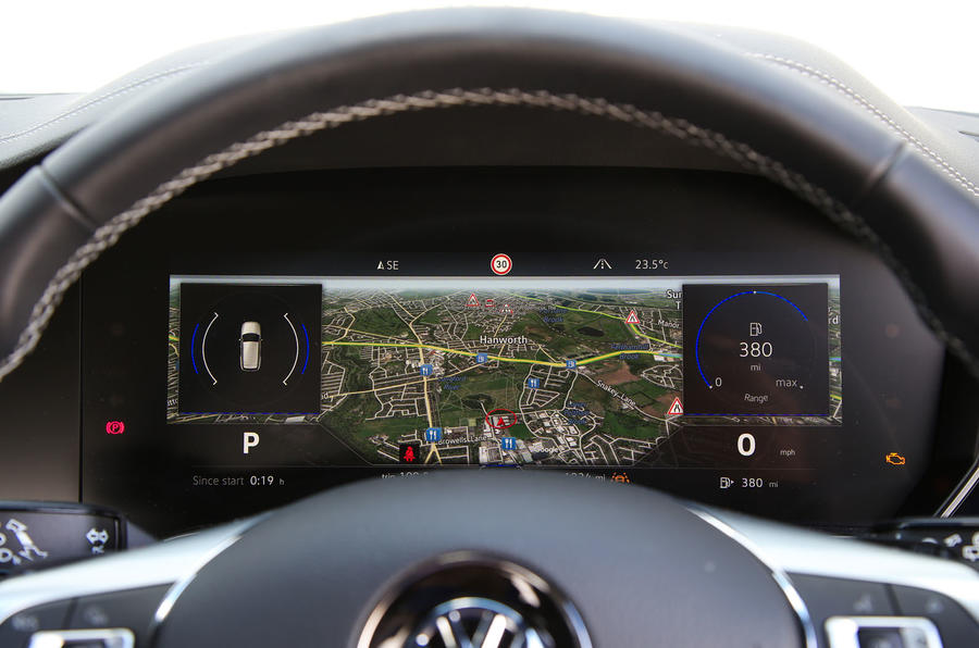 Volkswagen Touareg 2018 road test review instrument cluster satnav