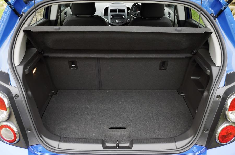 Chevrolet Aveo boot space