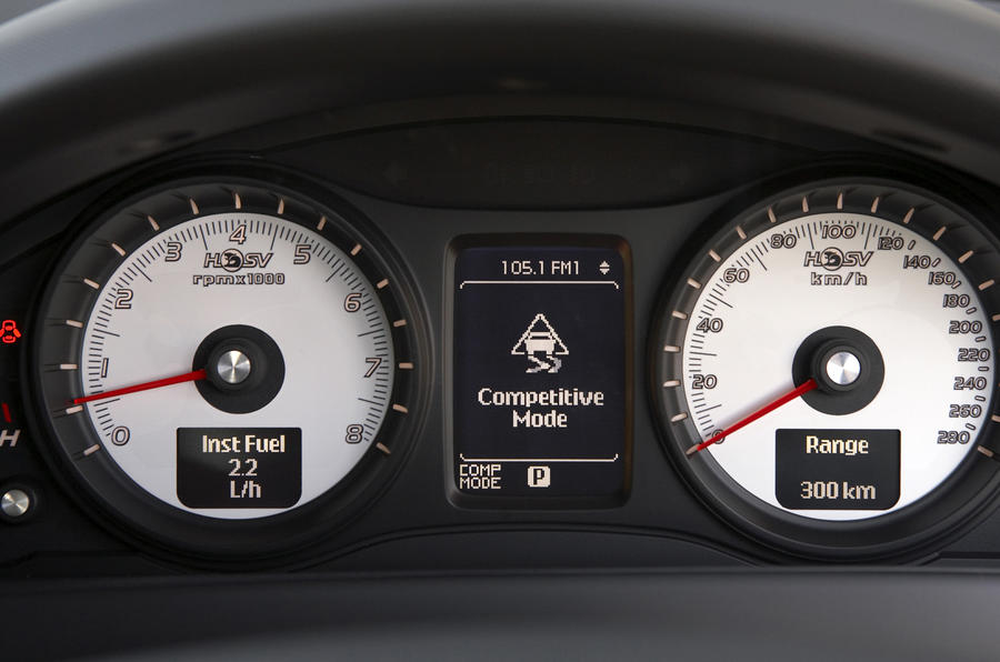 Holden GTS instrument cluster