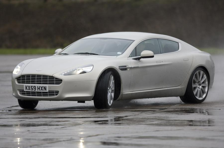 Aston Martin Rapide drifting