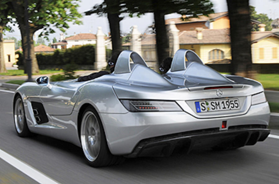 Mercedes amg slr stirling moss review autocar for Mercedes benz stirling moss