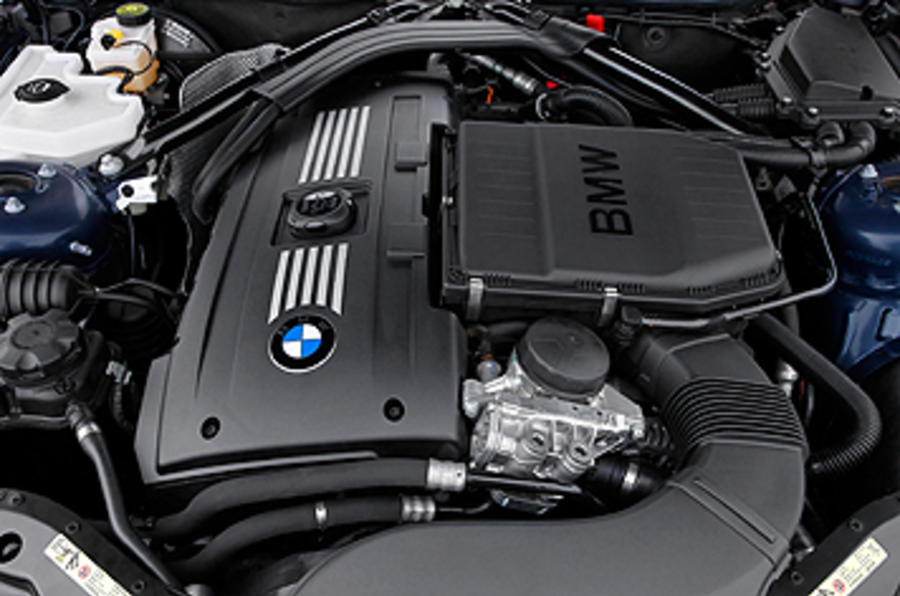 BMW Z4 engine bay