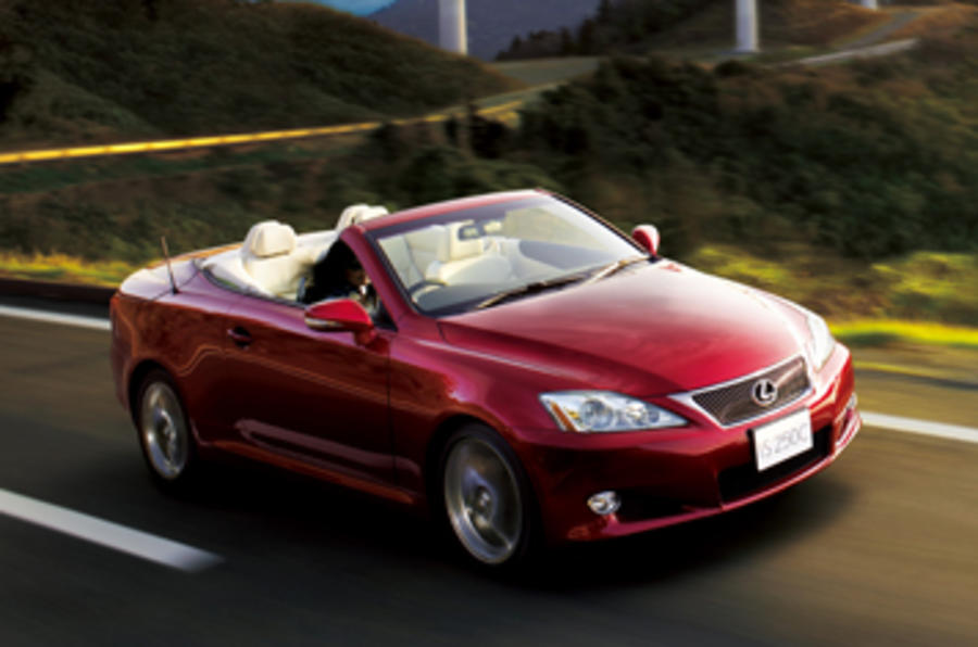 Lexus IS 250C roof down