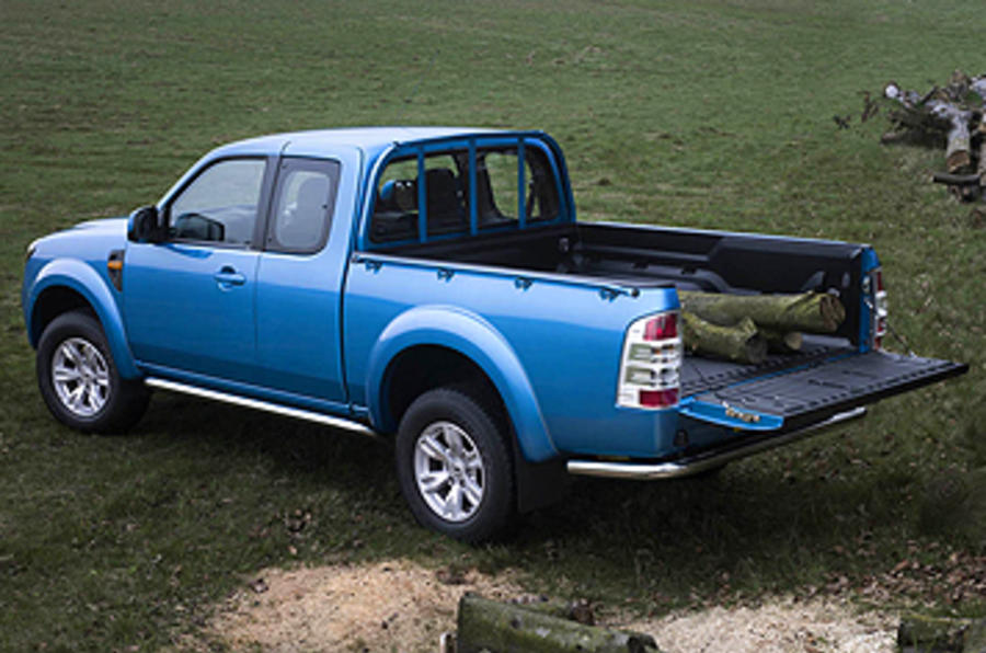 Ford Ranger Wildtrak tailgate lowered
